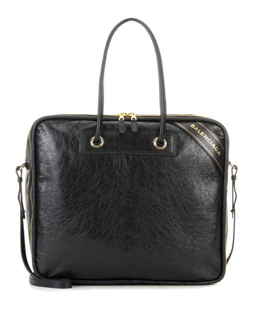 Balenciaga - Black Blanket Square M Leather Tote - Lyst
