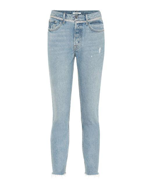 GRLFRND Blue Distressed Skinny Jeans Karolina
