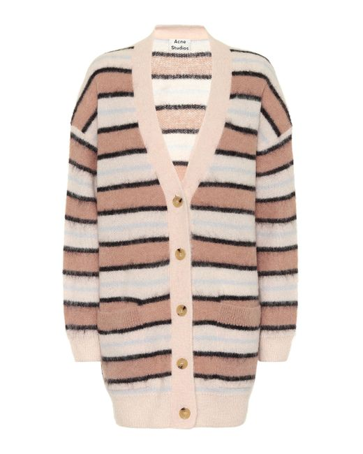 Acne Striped Cardigan old Pink/multi