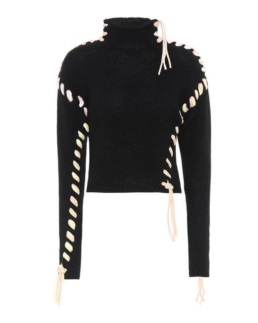 Acne Black Wool Turtleneck Sweater
