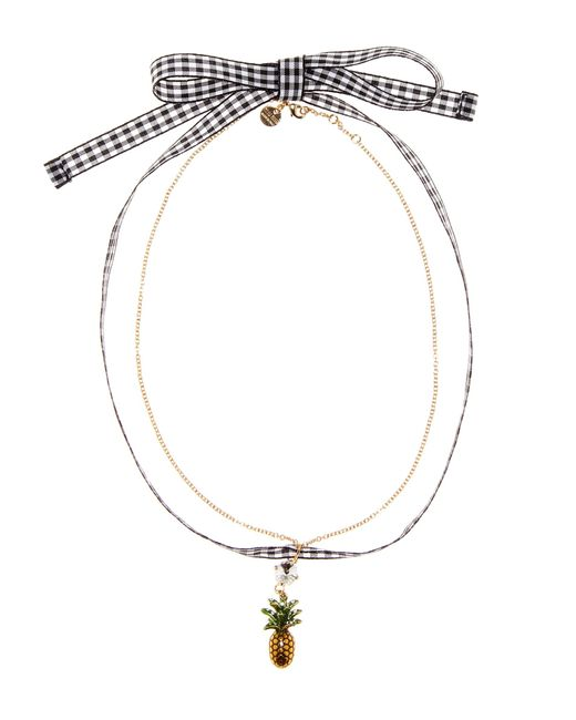Miu Miu - Red Embellished Cherry Choker - Lyst