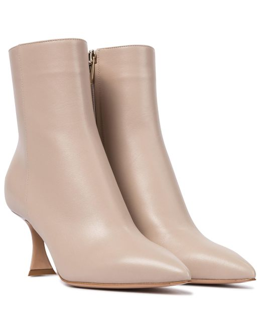 Gianvito Rossi Brown Ankle Boots aus Leder