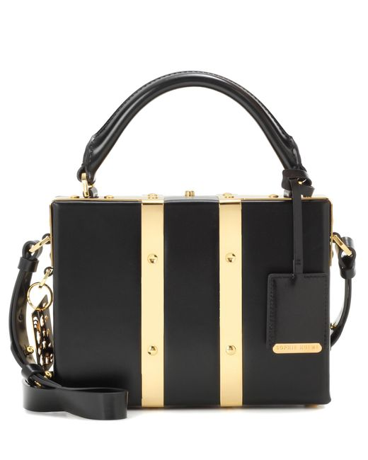Sophie Hulme Black Albany Mini Suitcase Tote