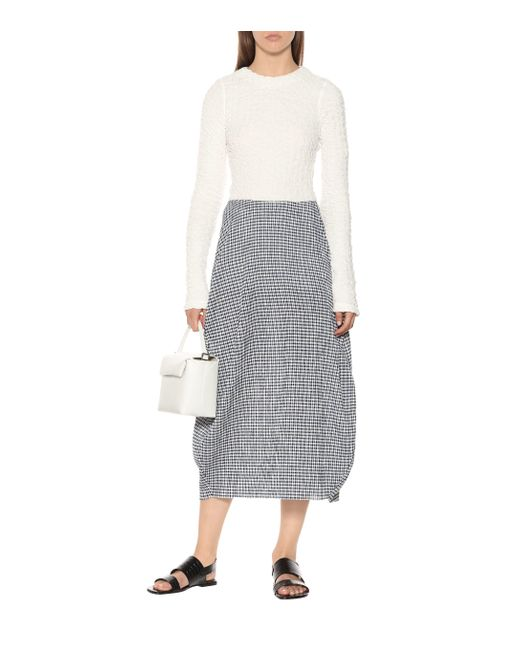 Top en coton stretch Jil Sander en coloris White