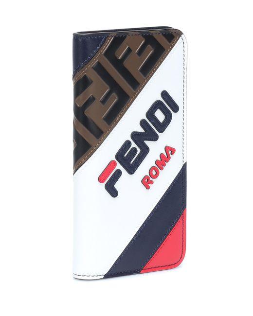 Fendi Multicolor Mania Leather Iphone X Case
