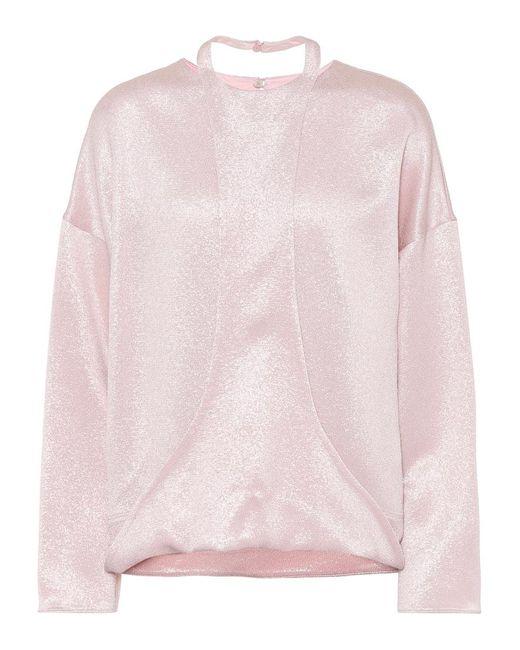 Top in lamé di Valentino in Pink