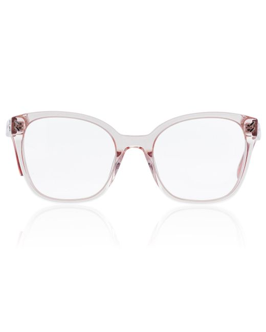 Lunettes rectangulaires Stella McCartney en coloris Pink