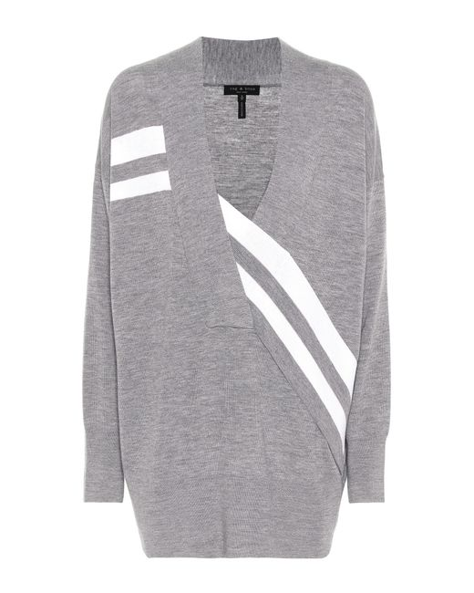 Rag & Bone - Gray Oversized Wool Sweater - Lyst