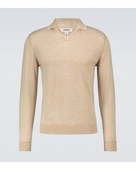 Phipps Natural James Dean Knitted Sweater for men