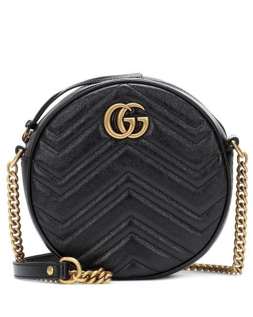 Gucci - Black GG Marmont Mini Shoulder Bag - Lyst ... dff637d3b8d24