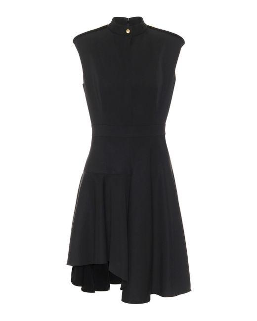 Miniabito in crêpe di lana di Alexander McQueen in Black