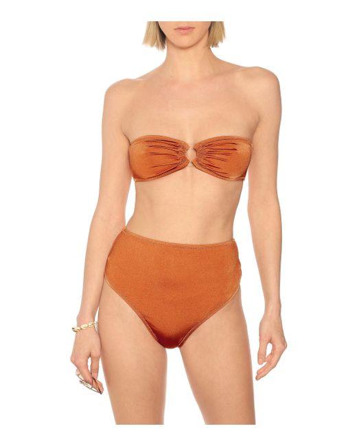 Reina Olga Women's Orange Bandcamp Bandeau Bikini Top