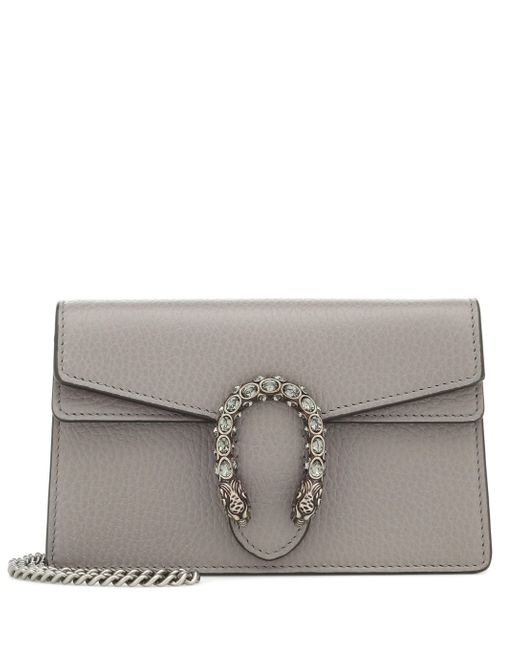 Gucci Gray Dionysus Super Mini Crossbody Bag