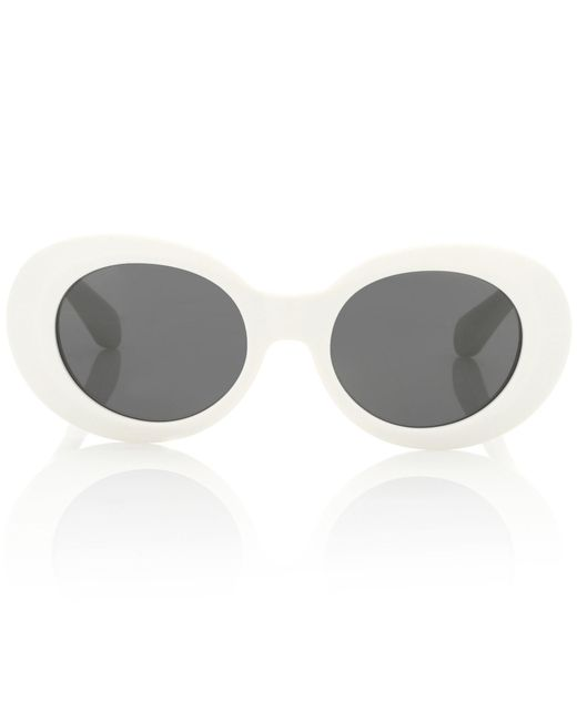 Acne White Mustang Sunglasses