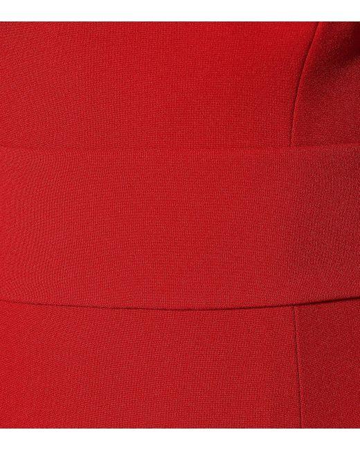 Safiyaa Red Off-Shoulder-Top Maleia aus Crêpe