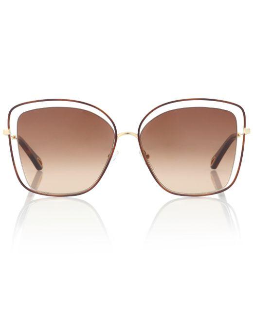 Chloé Brown Sonnenbrille Poppy