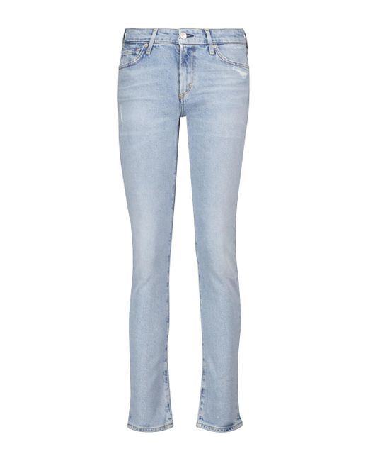 Citizens of Humanity Blue Racer Low-rise Skinny Jeans