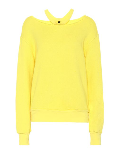 Unravel Project Yellow Cotton And Cashmere Sweatshirt