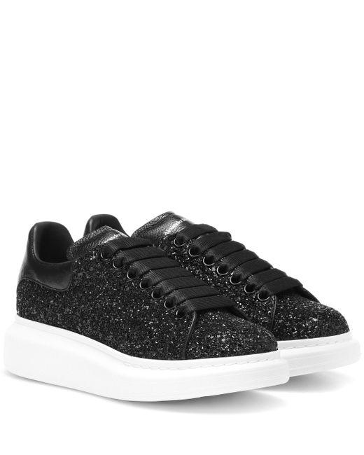 Alexander McQueen Black Platform-Sneakers mit Glitter