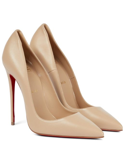 Christian Louboutin Natural So Kate 120 Leather Pumps