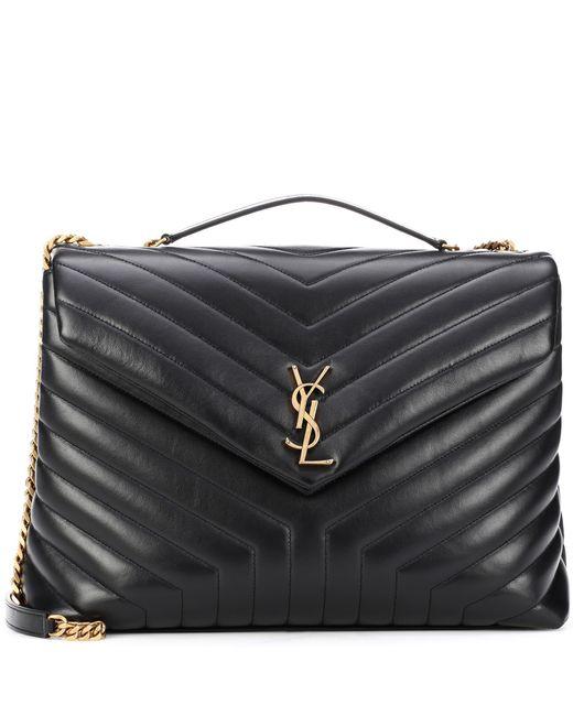 d9869b9e1 Saint Laurent - Black Large Loulou Monogram Shoulder Bag - Lyst ...