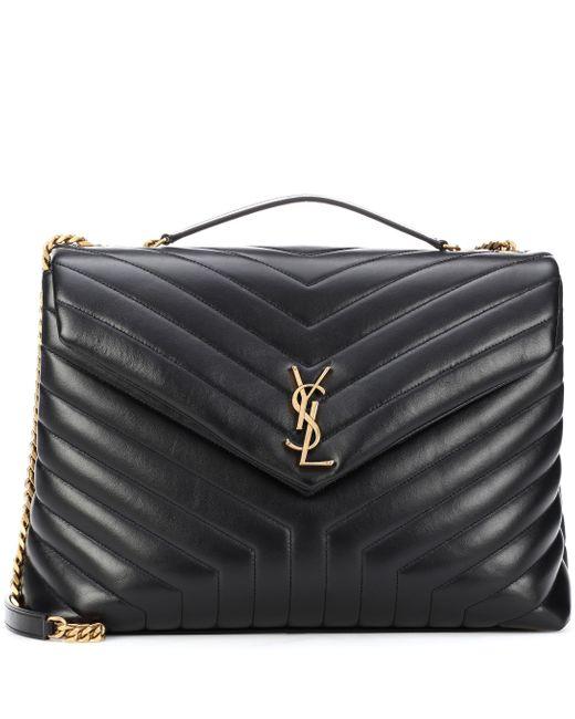 Saint Laurent Black Loulou Large Leather Shoulder Bag