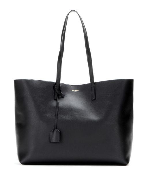 Saint Laurent Black Leather Shopper
