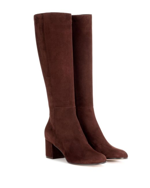 Gianvito Rossi - Brown Milton Suede Boots - Lyst