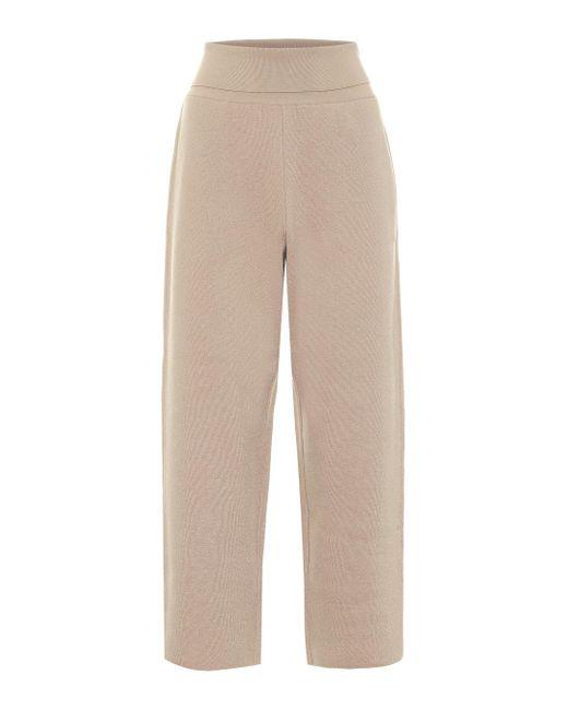 Stella McCartney Natural Cropped-Hose aus Schurwolle