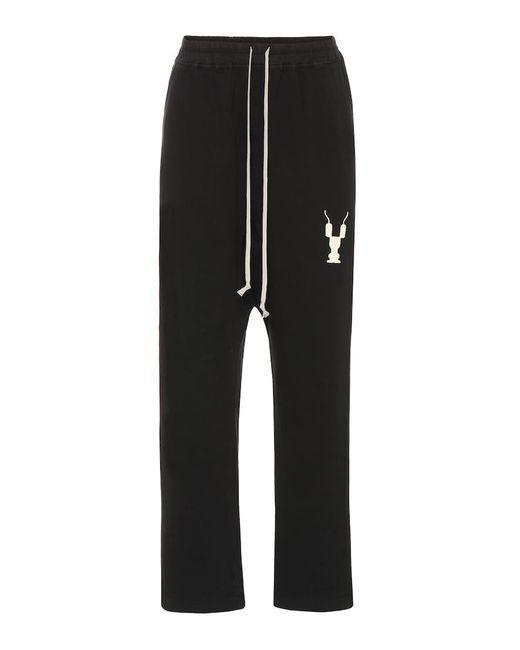 Pantaloni sportivi in cotone di Rick Owens in Black