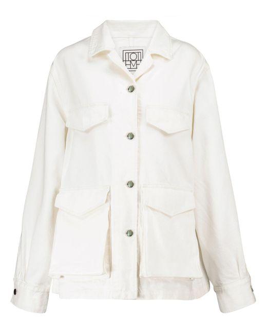 Chaqueta cargo de jeans Totême  de color White