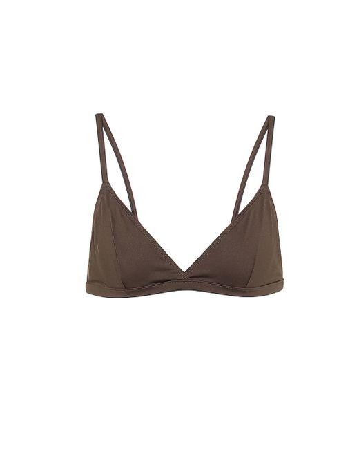 Top bikini Genoa a triangolo di Asceno in Brown