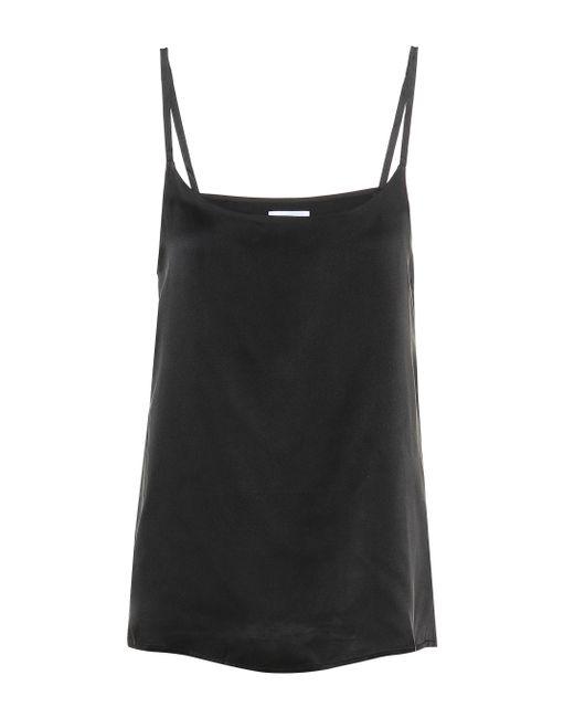 Asceno Black The Venice Silk Camisole