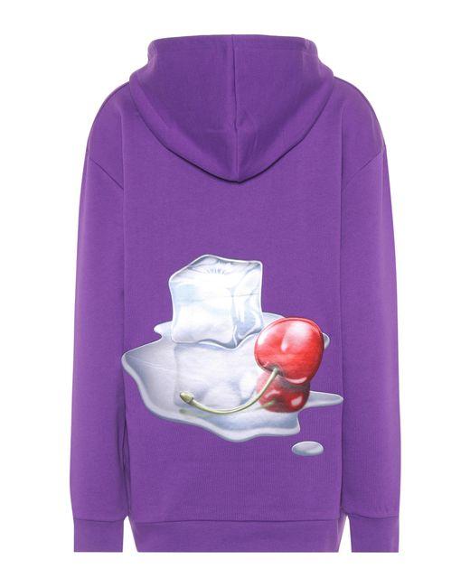 Acne - Purple Fog Cotton Hoodie - Lyst