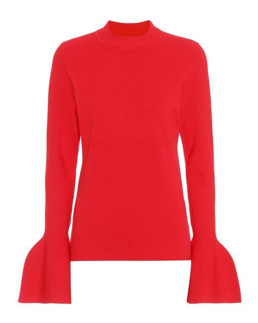 Diane von Furstenberg - Red Flutter Sleeve Sweater - Lyst