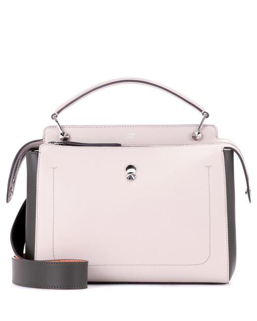 Fendi | Gray Dotcom Leather Shoulder Bag | Lyst