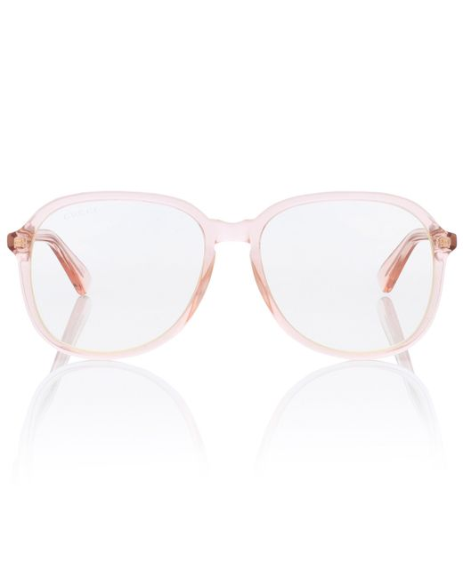 Gucci Pink Oversized Glasses