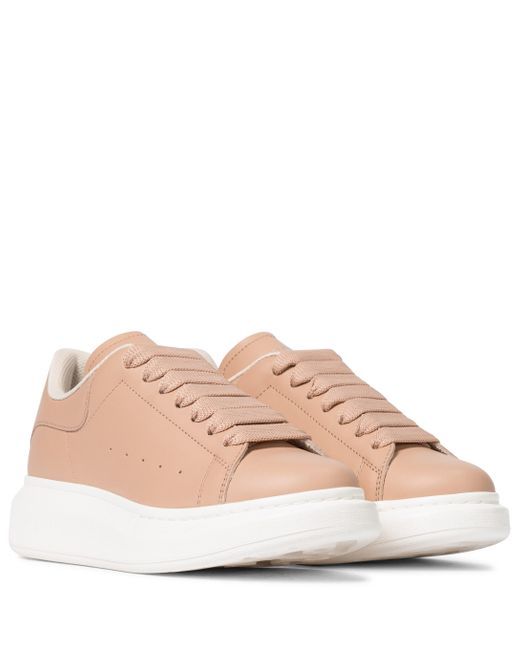 Baskets en cuir Alexander McQueen en coloris Pink
