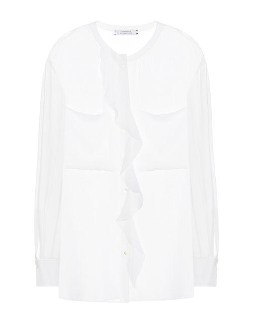 Dorothee Schumacher Blusa de seda Sensitive Lightness de mujer de color blanco 1NSC4
