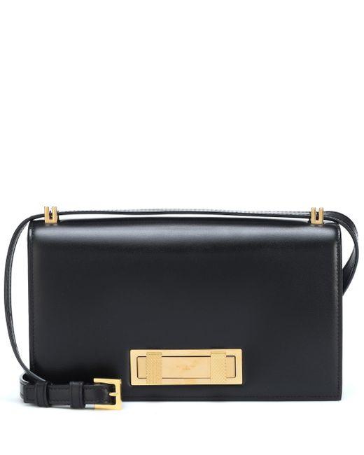 Saint Laurent - Black Domino Leather Shoulder Bag - Lyst