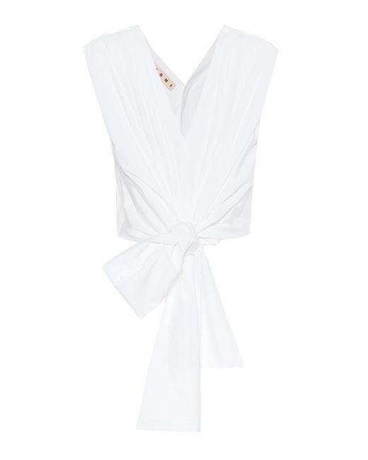 Marni White Cotton Top