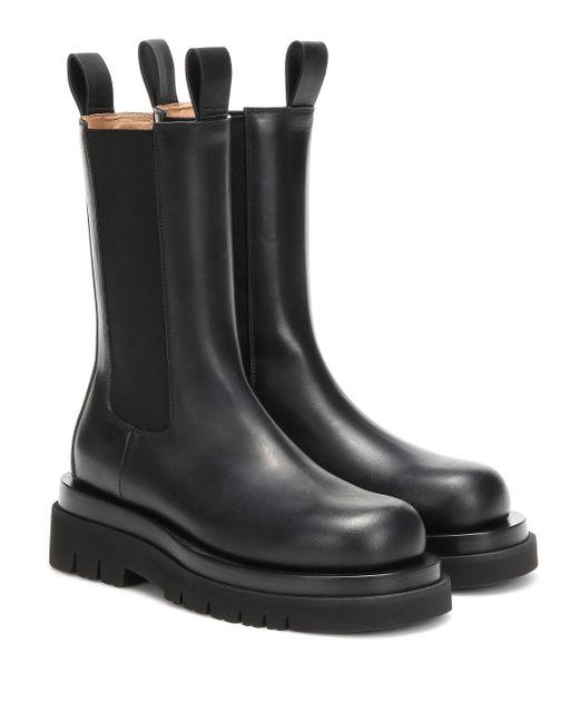 Bottega Veneta Black Chelsea Boots Aus Leder
