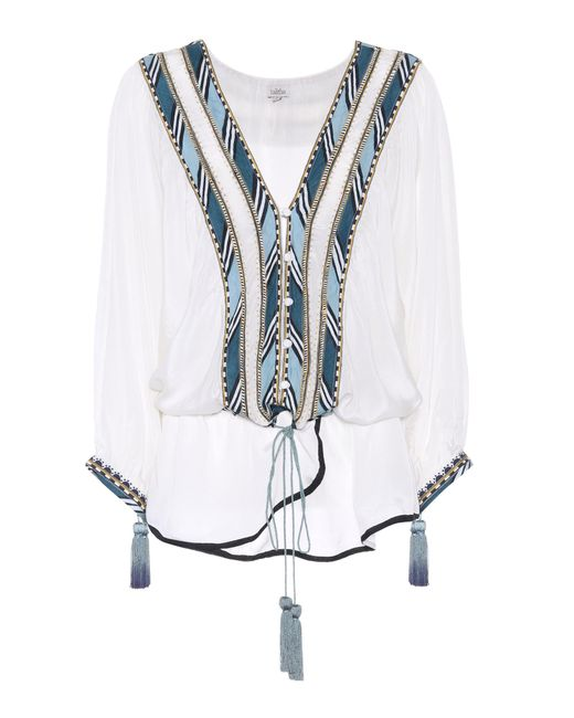 Talitha - White Embroidered Top - Lyst