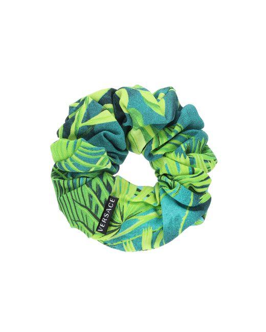 Versace Blue Jungle-print Scrunchie