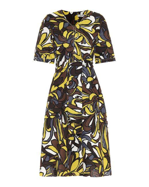 Max Mara Multicolor Joy Linen And Cotton Midi Dress