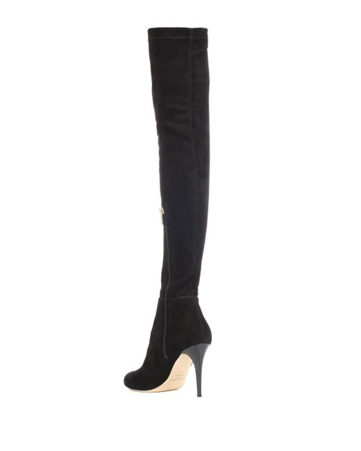 0845acf7b8a ... Jimmy Choo - Black Toni Suede Over-the-knee Boots - Lyst ...