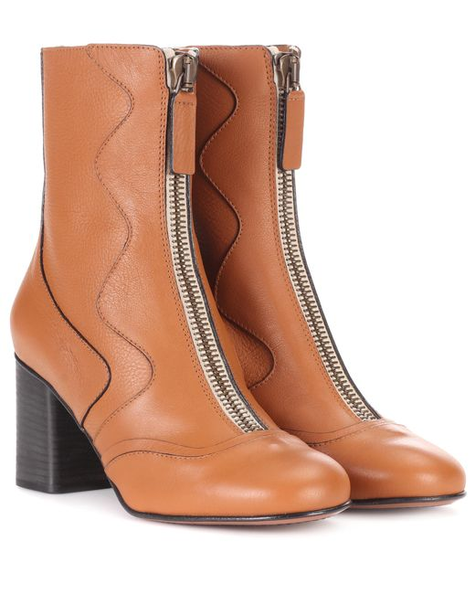 Chloé - Brown Exclusive To Mytheresa. Com – Leather Ankle Boots - Lyst