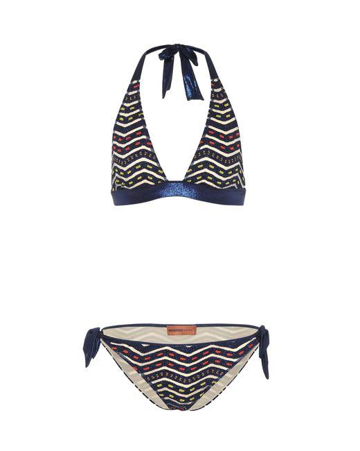 Missoni - Blue Crochet Halterneck Bikini - Lyst