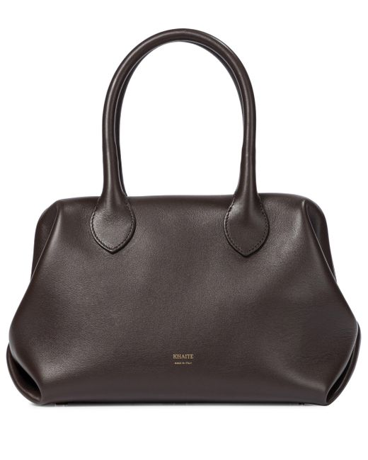 Khaite Brown Doctor Small Leather Tote