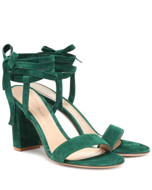 Gianvito Rossi Green Exclusive To Mytheresa – Gaia 85 Suede Sandals